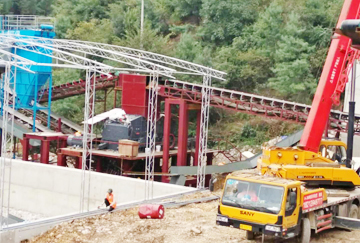 00-600吨石灰石破碎制砂生产线-福建时产350 400吨花岗岩破碎制砂
